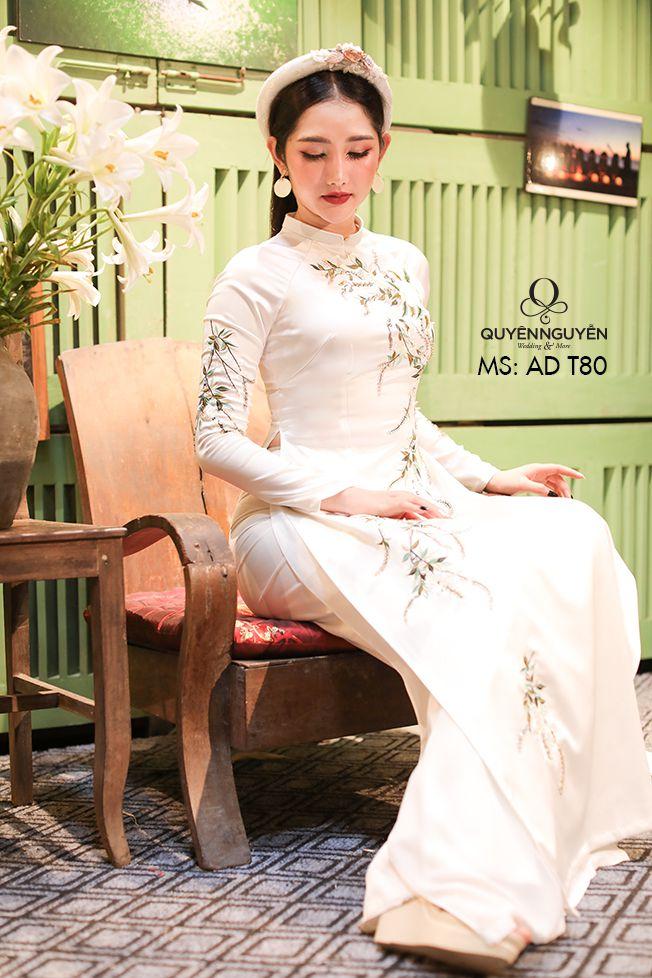 Áo dài trắng AD T80