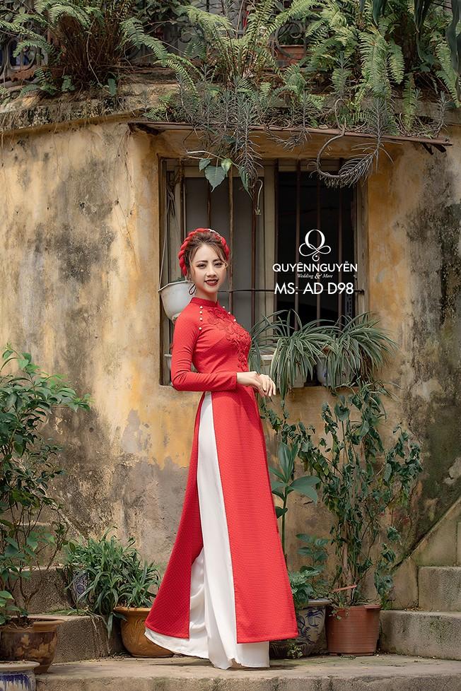 Áo dài đỏ AD D98