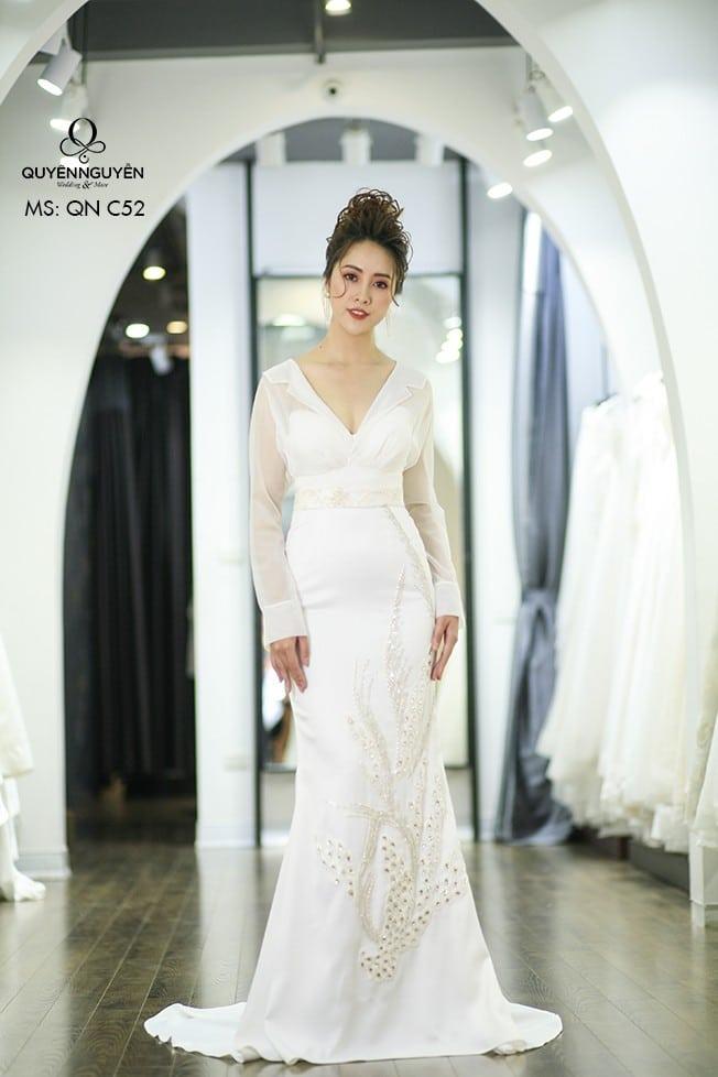 Váy cưới dáng cá QNC 52