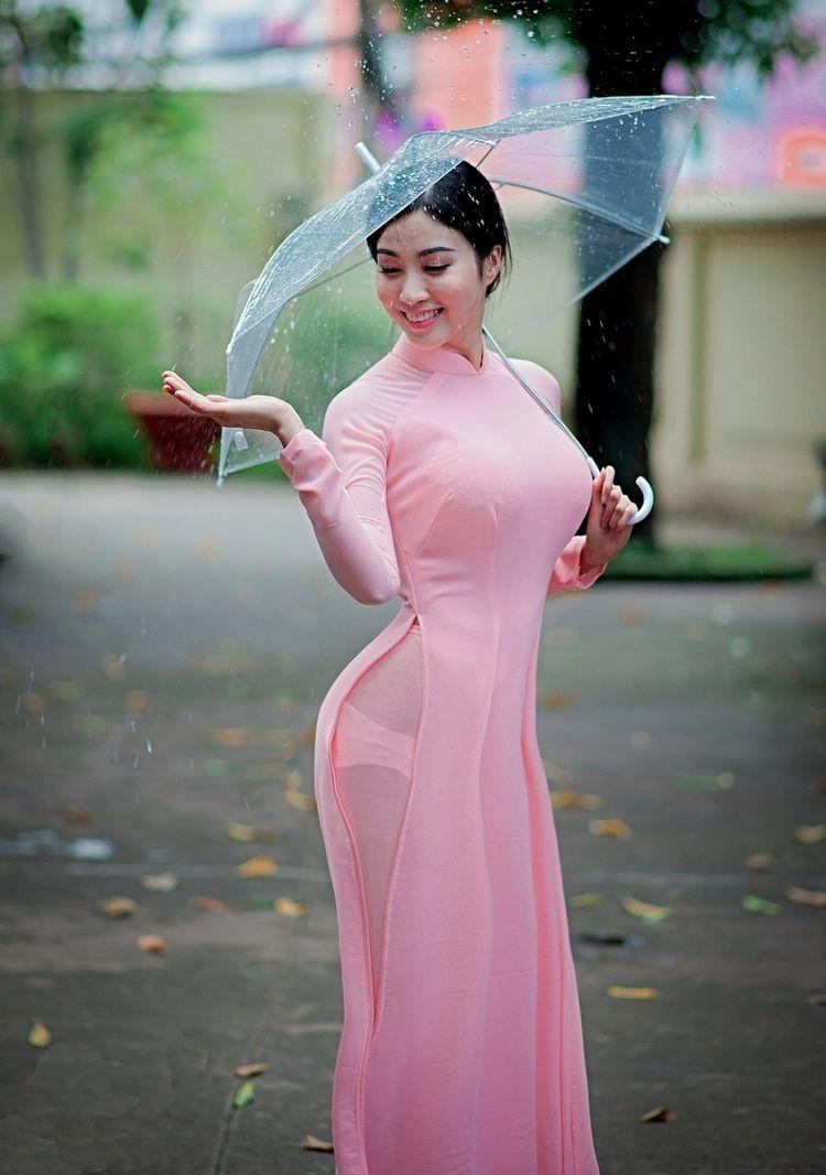 Áo dài xuyên thấu – phong cách thời trang gây tranh cãi