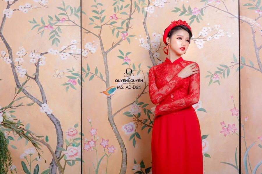 Bộ sưu tập áo dài cưới đẹp 2019