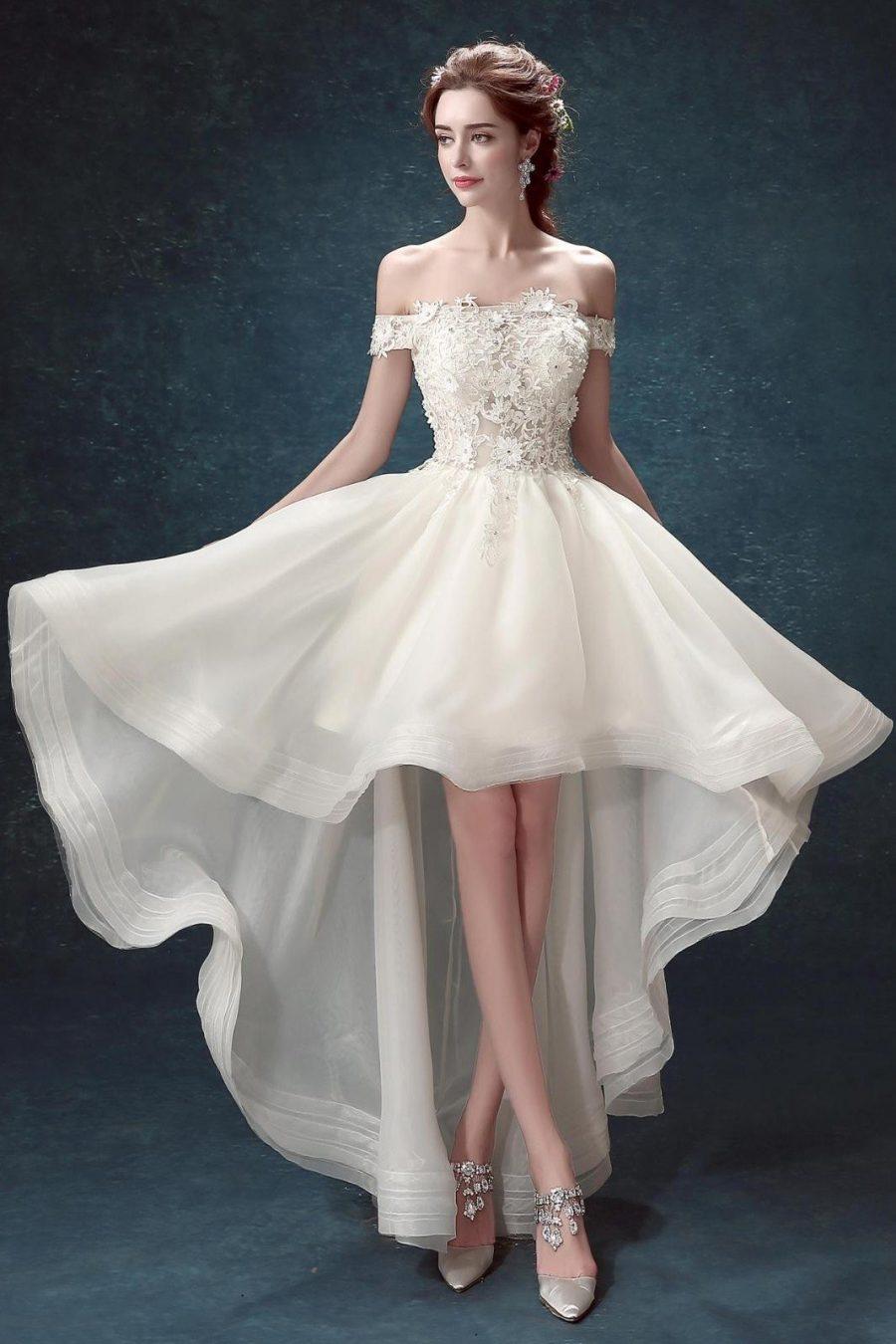Tổng hợp các mẫu váy cưới ngắn mới nhất
