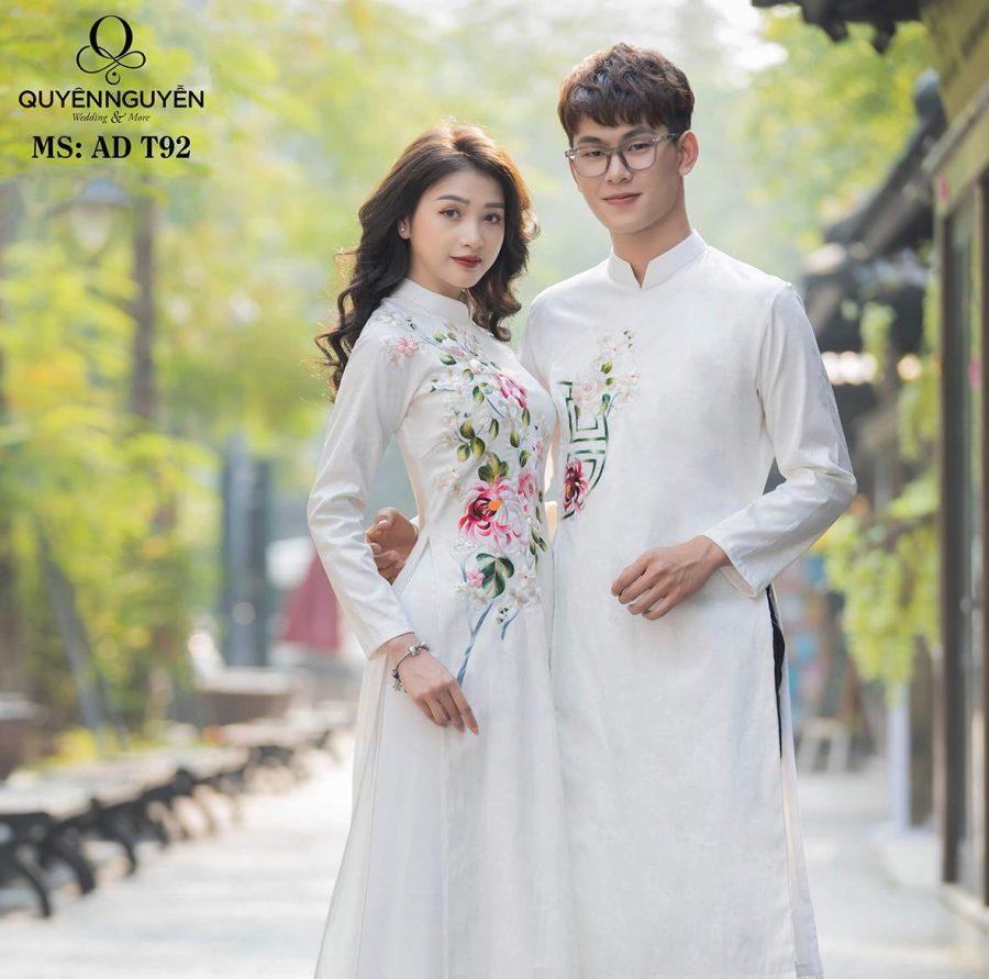 Áo dài đôi cho cô dâu chú rể được yêu thích nhất 2020