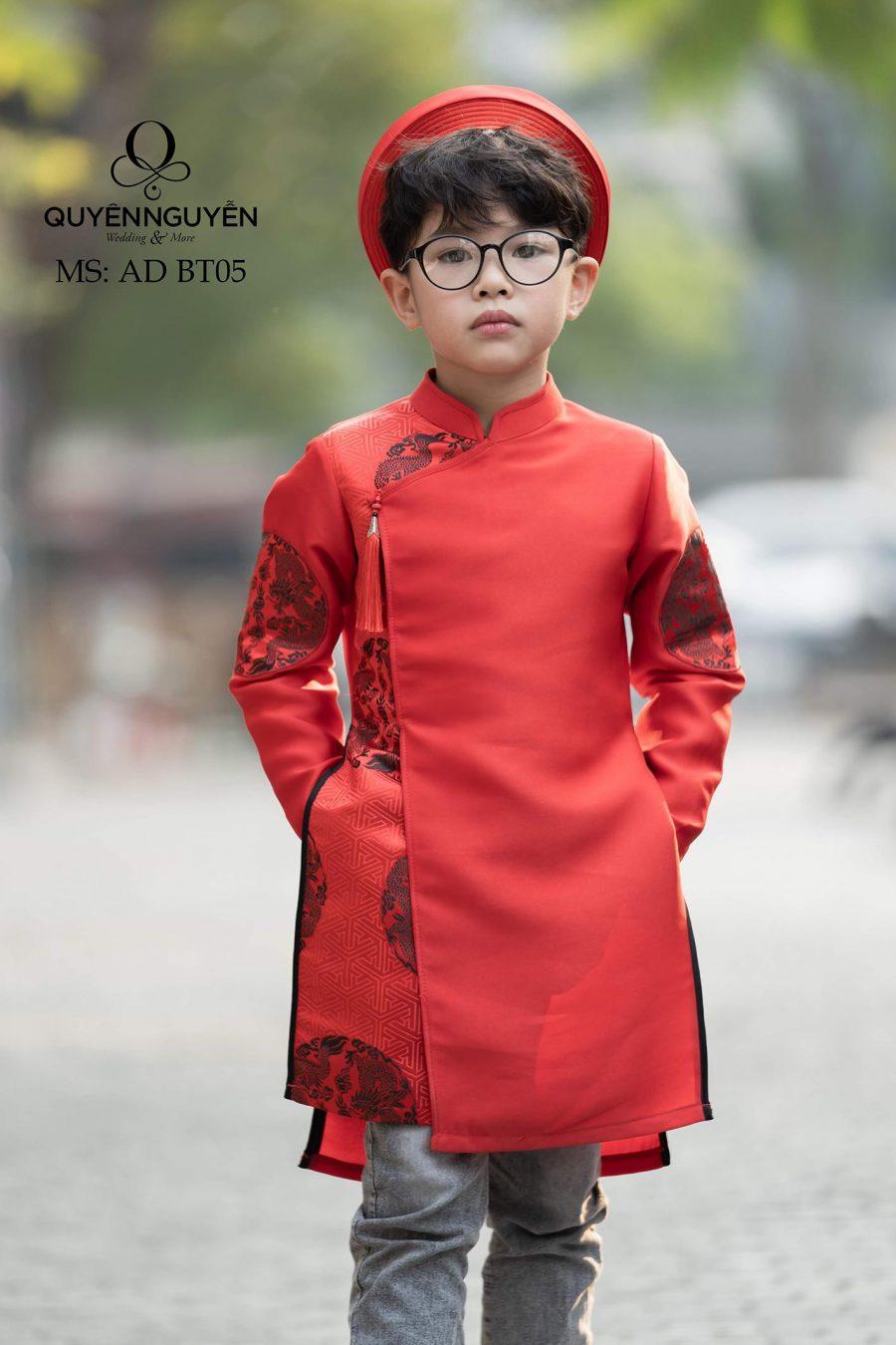 5 mẫu áo dài trẻ em bé trai cho dịp lễ Tết 2020