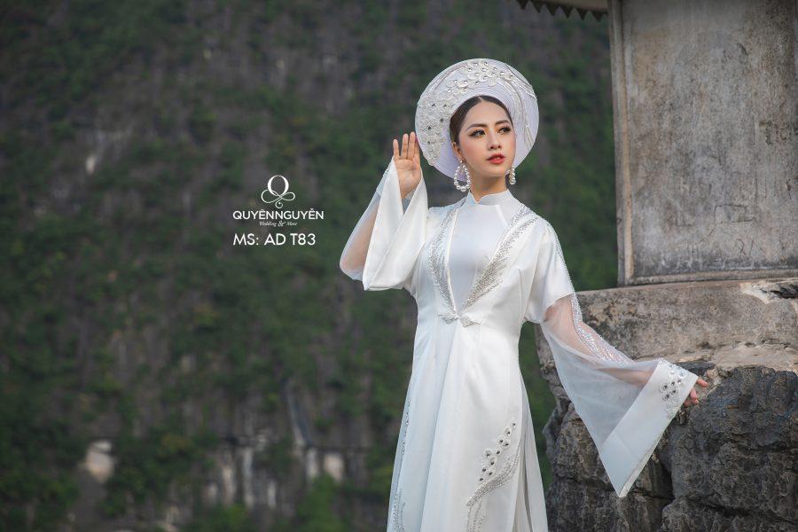 10 mẫu áo dài cho cô dâu bầu 2020 đẹp trong ngày ăn hỏi