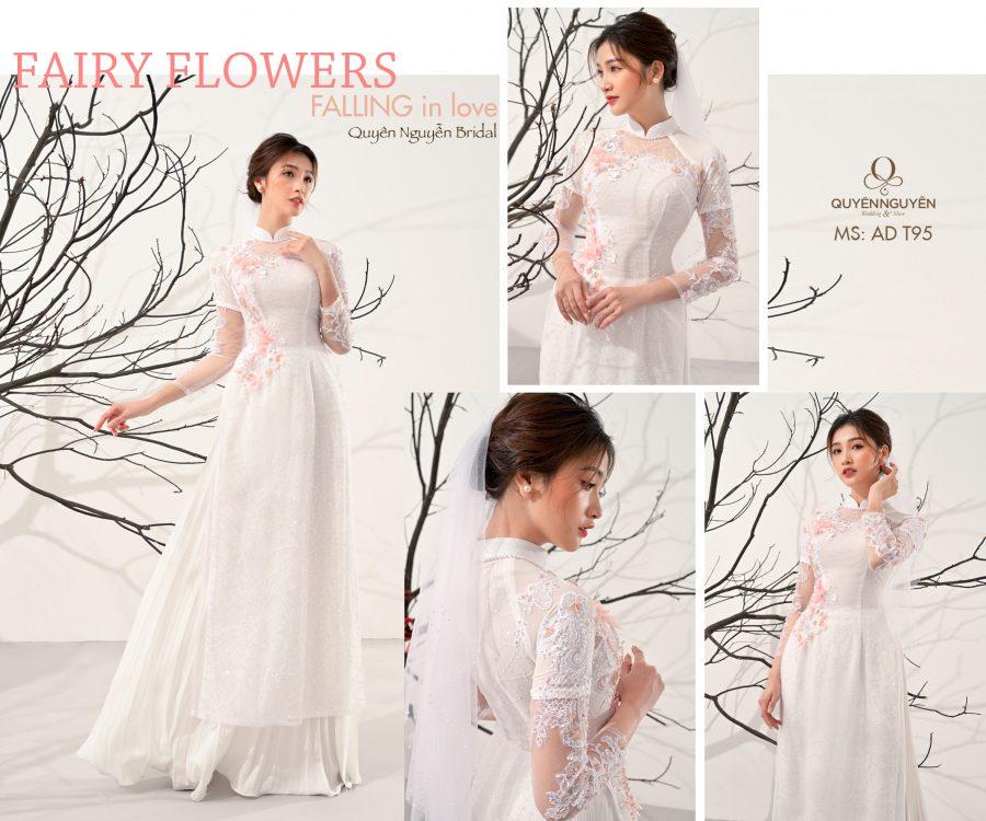 """BST áo dài cách tân ăn hỏi """"Fairy Flowers"""" cho cô dâu hiện đại"""