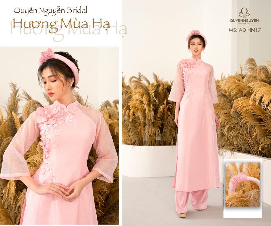 Áo dài hồng nhạt AD HN17