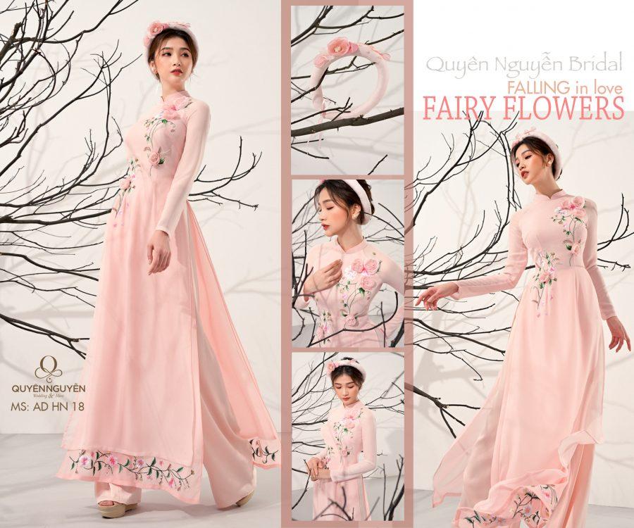 Áo dài hồng nhạt AD HN18