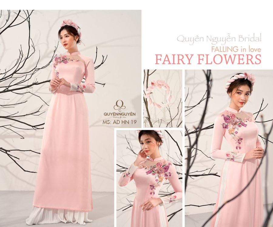 Áo dài hồng nhạt AD HN19