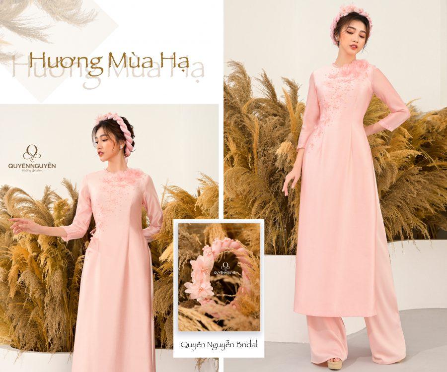 Áo dài hồng nhạt AD HN20