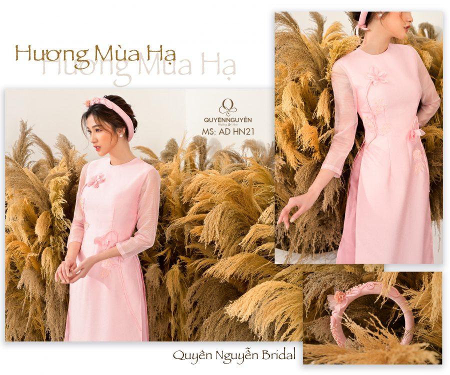 Áo dài hồng nhạt AD HN21