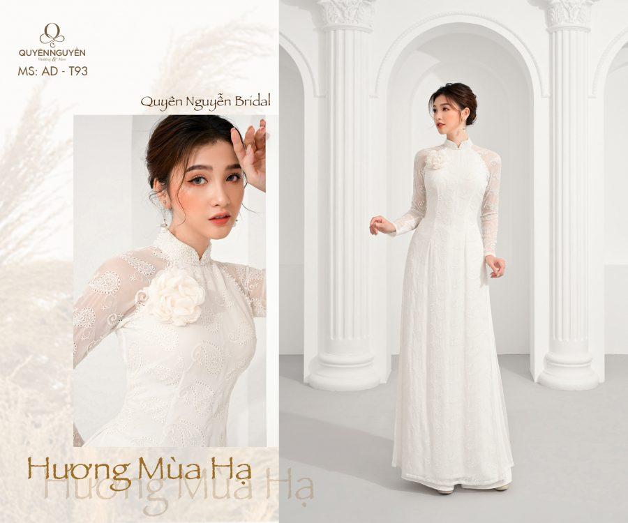 Áo dài trắng AD T93