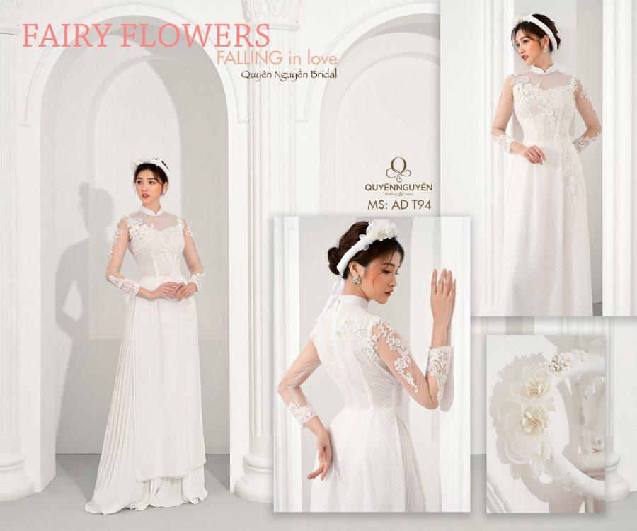 Áo dài trắng AD T94