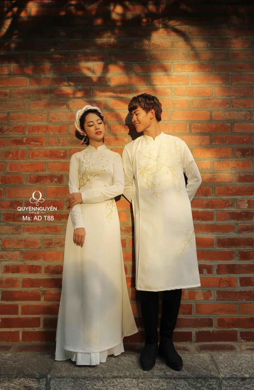 8 mẫu áo dài ăn hỏi 2020 sang trọng cho cô dâu chú rể