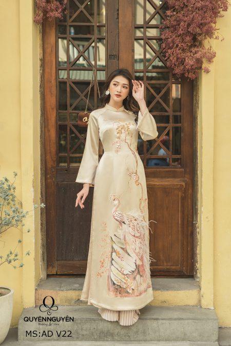 8 mẫu áo dài thêu 3D đẹp mắt năm 2019