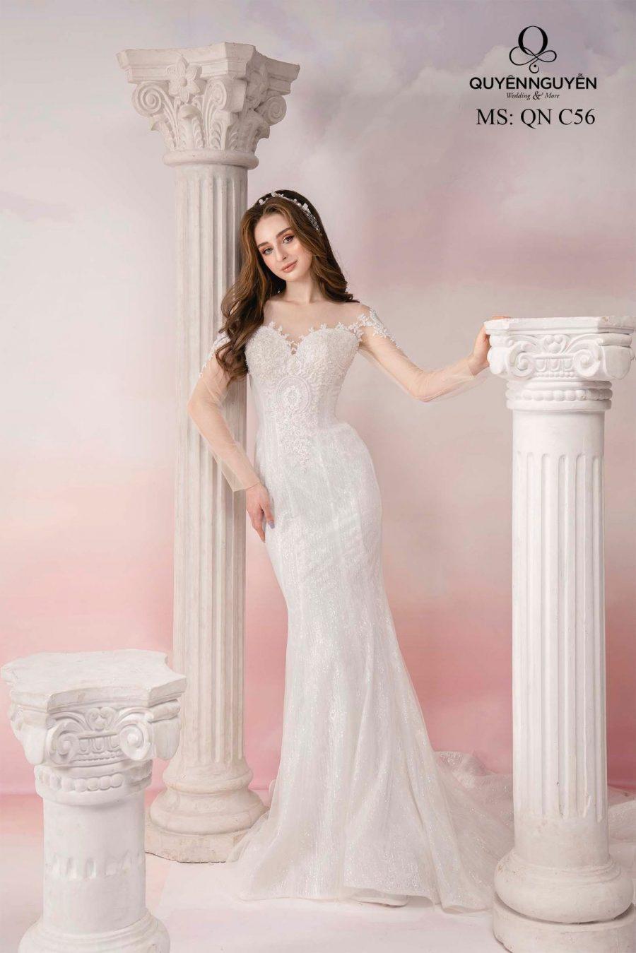8 mẫu váy cưới đuôi cá dài đẹp nhất 2020 cho cô dâu