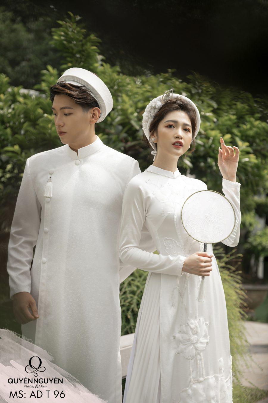 Áo dài đôi trắng ADT96