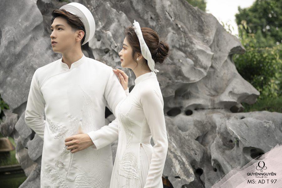 Áo dài đôi trắng ADT97