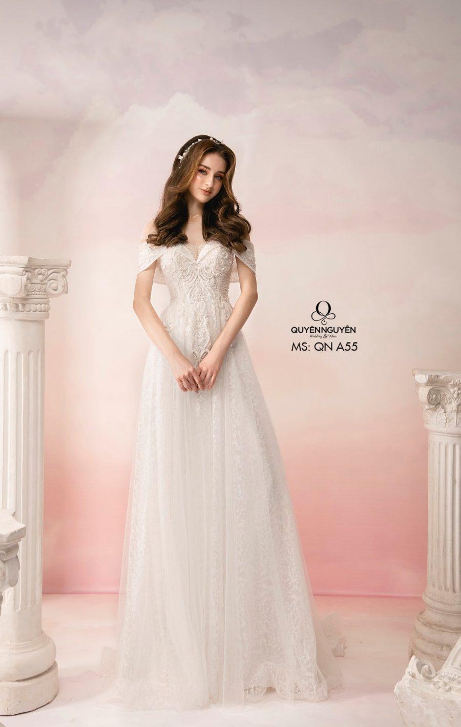 Váy cưới dáng A QNA55