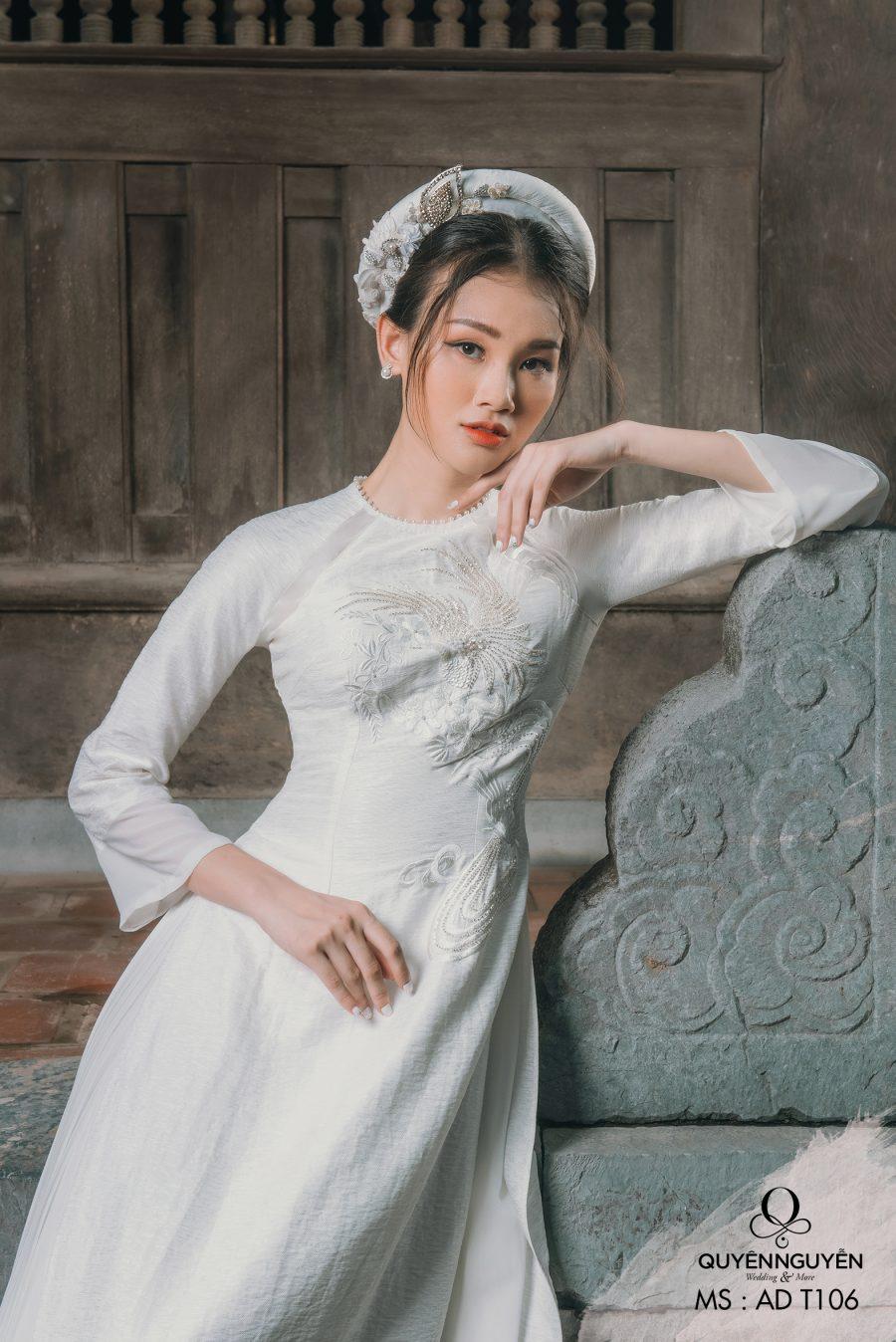 Những mẫu áo dài ăn hỏi đẹp 2021 hot nhất tại Quyên Nguyễn Bridal