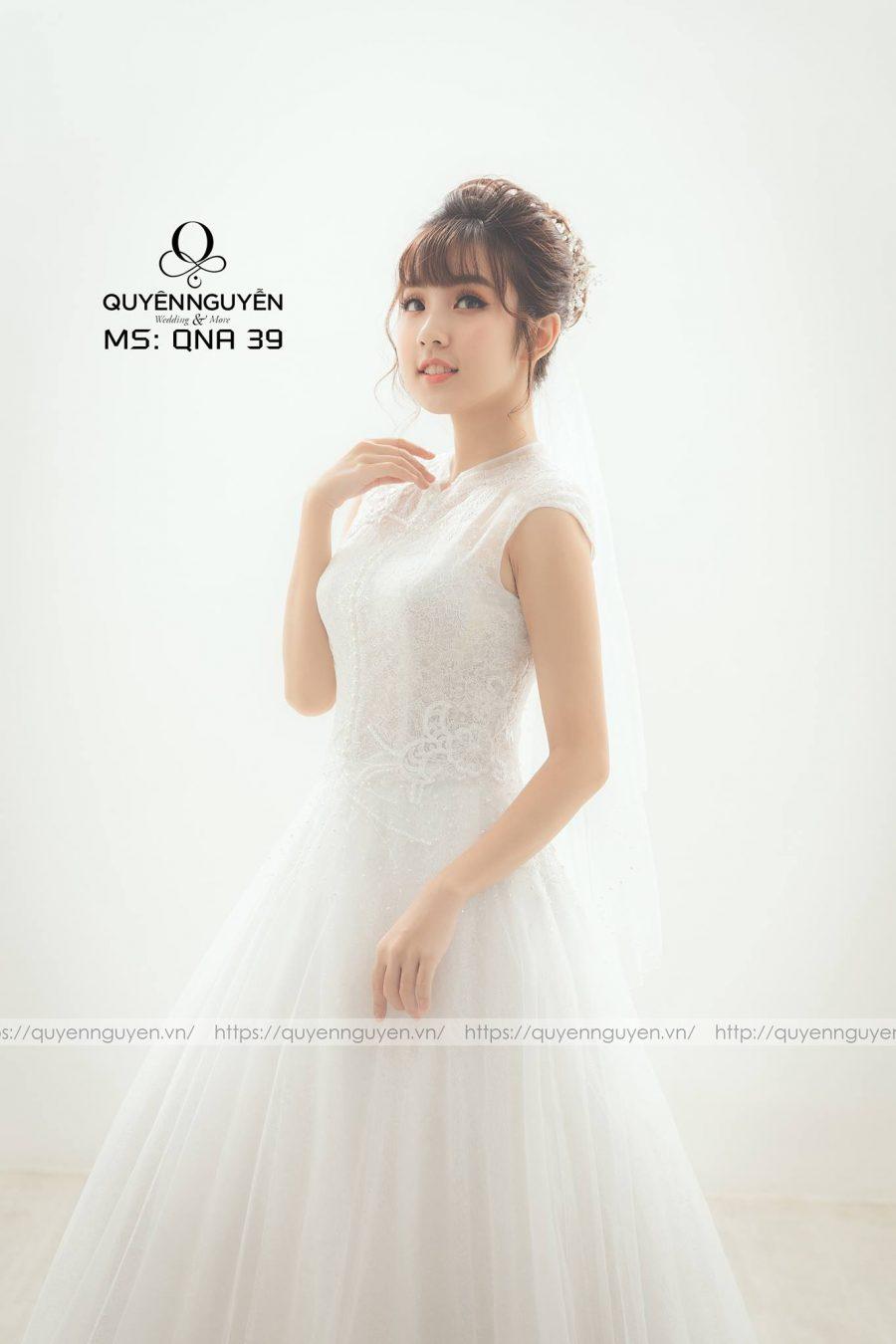 5 mẫu váy cưới đơn giản nhẹ nhàng, sang trọng