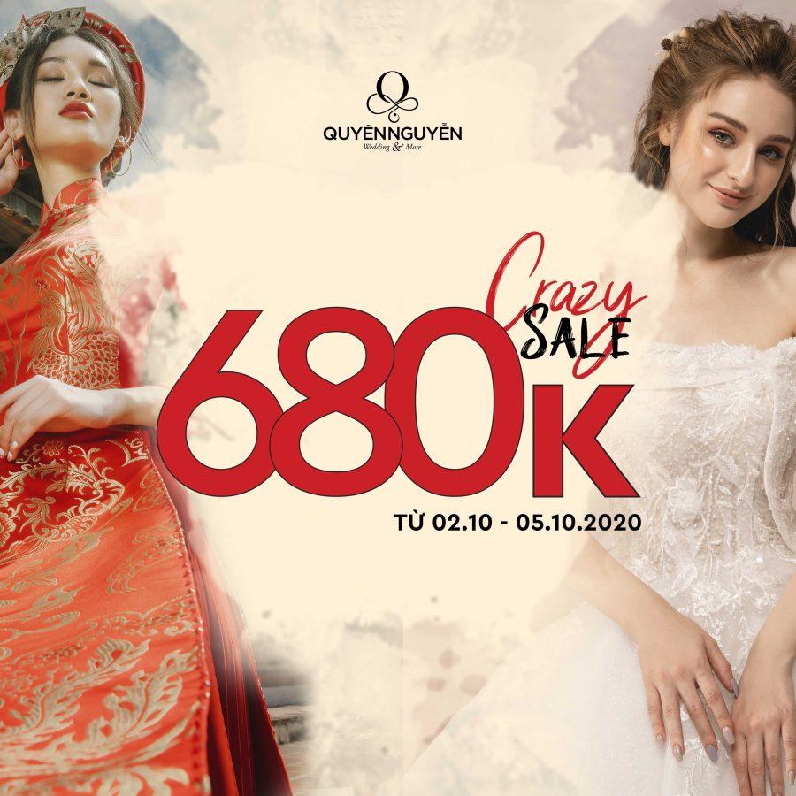 Mùa CRAZY SALE đồng giá váy cưới 980k và áo dài 680k