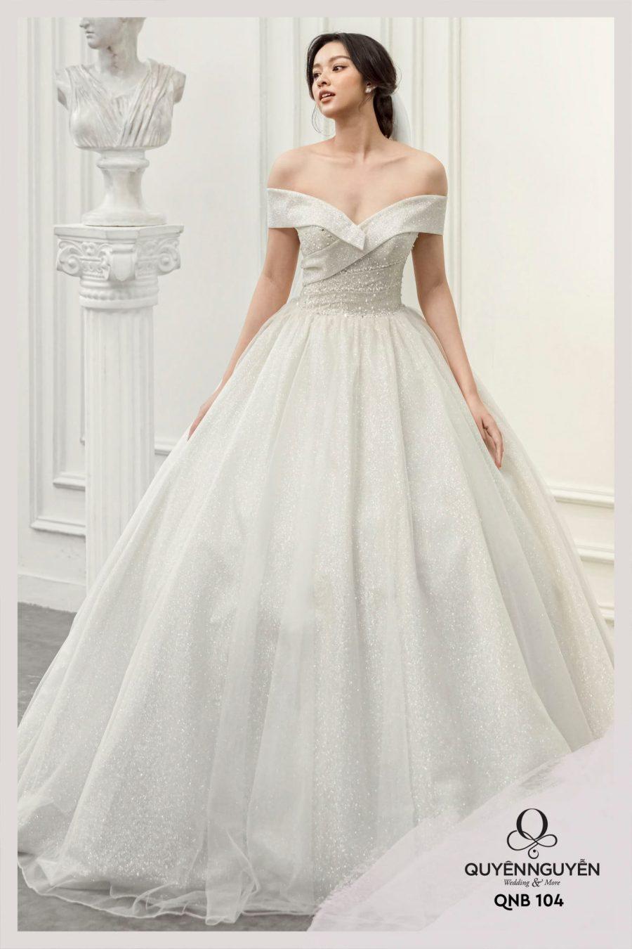 Váy cưới dáng bồng QNB104