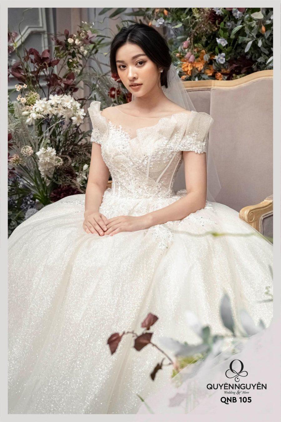 Váy cưới dáng bồng QNB105
