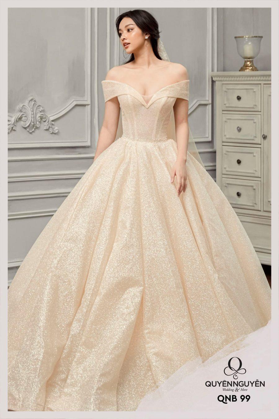 Váy cưới dáng bồng QNB99