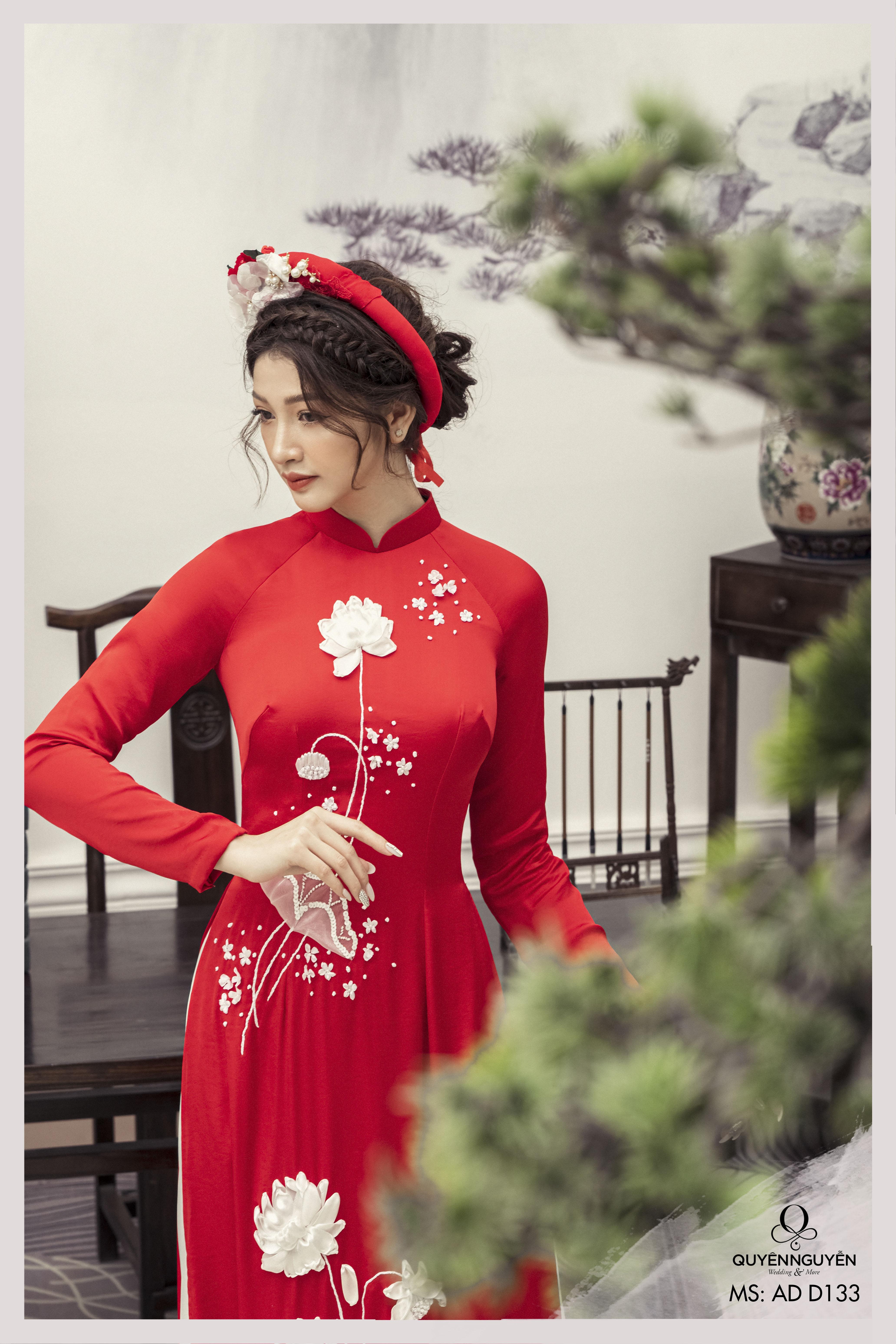 Áo dài cưới 2021 màu đỏ