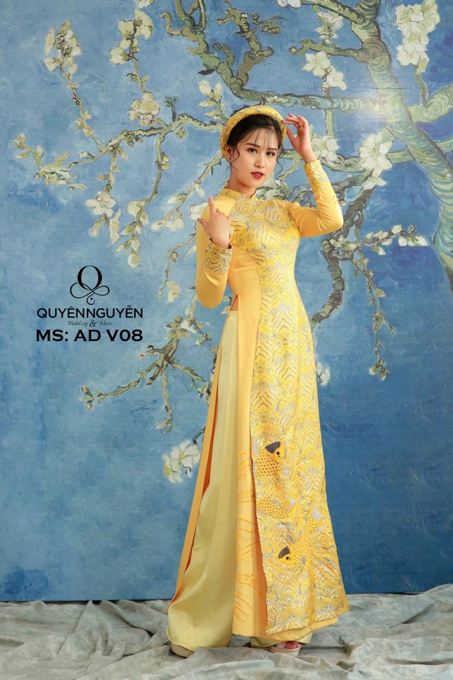 Bộ sưu tập áo dài vàng cho ngày ăn hỏi đẹp nhất tạiQuyên Nguyễn Bridal